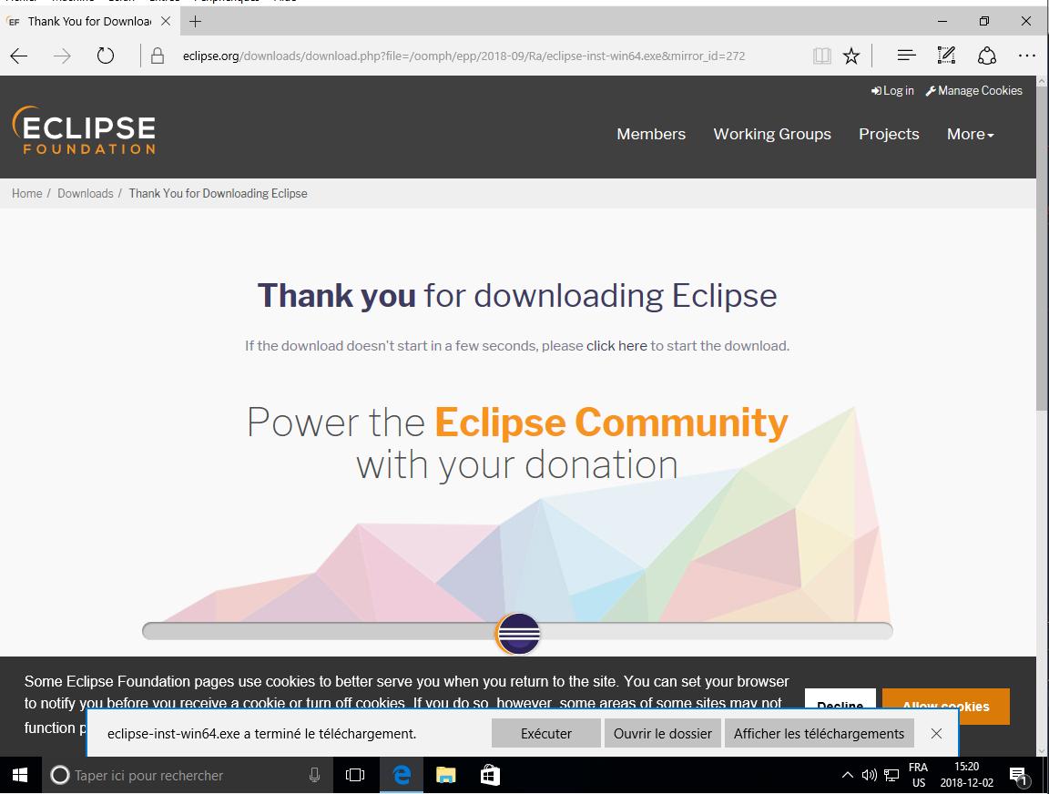 Logiciel - Eclipse - Installation de Eclipse sous Windows 10